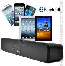 Portable Bluetooth MP3 Lautsprecher Soundbar Boom Box, USB, MicroSD, FM, Line-In
