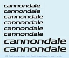 Cannondale Bicycle Frame Stickers - Decals - Transfers: Black. n.5