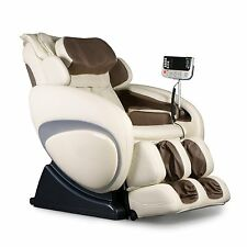Cream Osaki OS-4000T Executive Zero Gravity Massage Chair Recliner Foot Rollers