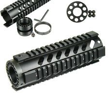 "7"" Free Float Handguard Picatinny Quad Rail w/ Front End Cap for for RPR Black"