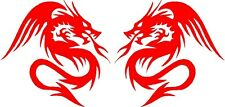 "Dragon Vinyl Car Decals Stickers Graphics (2 - 5"" x 5"" ) Design11"