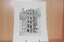 Gravure taille douce sur cuivre:Amboise, escalier;  Léopold Robin  Noire