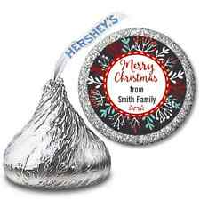 Holly Berries Personalized Christmas Hershey Kiss Stickers -  108 Stickers