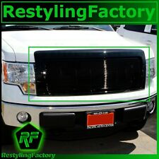 09-14 Ford F150 Front Hood All Black Billet Grille+Complete Shell FX+STX+XLT+XL