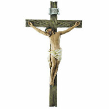 SALE! INRI Wall Cross Crucifix Medal Religious Good Jesus Crucifix Wooden Like
