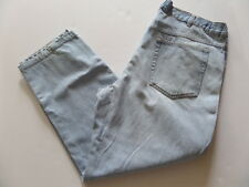 BASIC EDITIONS Men's Jeans Size-40x29 Relaxed Blue Zipper 100%Cotton Very Good!