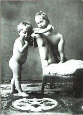 STAMPA FOTO ALINARI - BAMBINI IN SALA DI POSA - 1930 ca