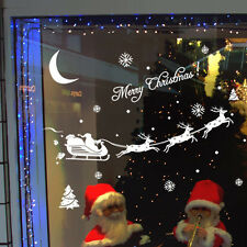 Merry Christmas Window Stickers Decoration Decal Home Decor Xmas  Santa Claus
