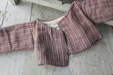 Antique doll clothes baby 18th century 1700's French clothing printed