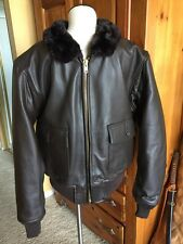 G-1 Barely Worn DSCP Leather Flight Jacket USMC Marines USN Sz 44 Large Nicest!!