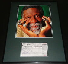 Bill Russell Signed Framed 16x20 1998 Receipt & Photo Display Celtics