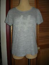 Lane Bryant Heather Gray Pearl Hashtag Graphic Tee 14/16 0X 1X Sweater Like