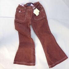 MINI BODEN Brown Cord Bootcut Flare Jeans trousers age 5-6-7 Bnwt