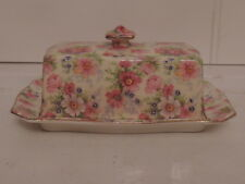 Vintage Royal Winton Chintz Shrewsbury Butter Dish