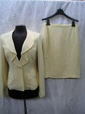 ALBERT NIPON SKIRT SUIT/yellow/NWT/SIZE18/RETAIL$320//LINED/SILK AND LINEN