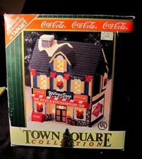 COCA-COLA Wiley & Sons Hardware Xmas Village Building In Box W/Light Retired