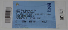 Ticket for collectors EC Manchester City - Aalborg BK 2009 England Denmark