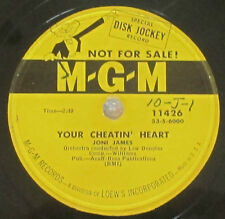 MGM 11426 78 RPM record Joni James Your Cheatin Heart / I'll Be Waiting For You