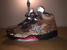 Supreme Retro Air Jordan V's Camo Colorway Size 11 With Receipt Etc. Nike 5's