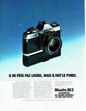 PUBLICITE ADVERTISING 027  1978  appareil photo Minota XG2