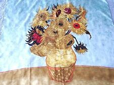 "Philadelphia Museum of Art Vincent Van Gogh Sunflowers 100% Silk Scarf 34"" x 35"""