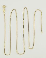 14k Yellow Gold Box Chain Link Necklace