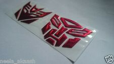 Transformers Autobots Decepticon 3D soft Sticker Emblem for Bike Car Home Office