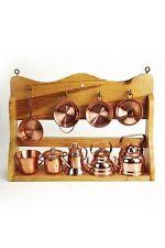 """""""CopperGarden®""""  Étagère de cuisine miniature avec ustensiles en cuivre"""