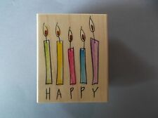HERO ARTS RUBBER STAMPS HAPPY CANDLES NEW STAMP