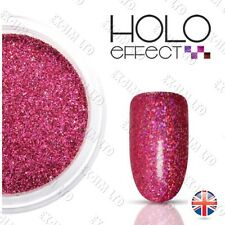 Pink LASER HOLO  EFFECT NAIL ART POWDER  GEL ACRYLIC Holographic   Fuchsia 19