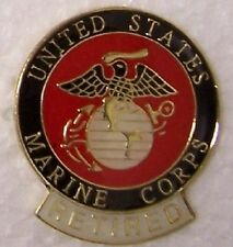 Hat Lapel Push Tie Tac Pin USMC Marine Corps Retired with tab NEW