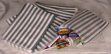 "100 Grey/Silver & White Candy Stripe Paper Sweet Bags Wedding 5""X7"" Pick 'n' Mix"