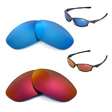 New Walleva Polarized Fire Red + Ice Blue Lenses For Oakley Hatchet Wire