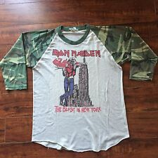 RARE 1982 IRON MAIDEN New York Vintage Tour Concert Shirt, 80s, Cameo Sleeve