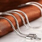 Fashion Men Women Punk 316L Stainless Steel 1.5MM Box Link Chain Necklace JL