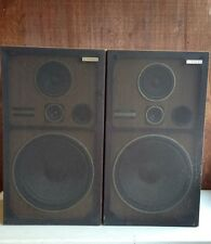 Vintage Pioneer CS G303 Speakers 150w 3 way Pair Speakers Floor Laminated Wood
