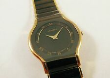 Lassale by Seiko Black & Gold Tone Stainless 1N00-2F60 Sample Watch NON-WORKING