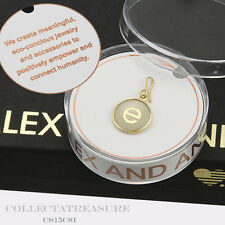 Authentic Alex and Ani Initial E Two Tone Strling Silver&14kt Gold Pltd Charm