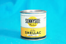 VINTAGE SUNNYSIDE PURE SHELLAC CAN - 4 lb WHITE - EMPTY CAN