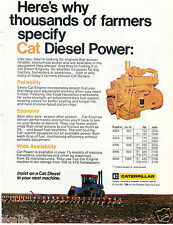 1977 Print Ad of Caterpillar CAT Farm Tractor Diesel Power Engines