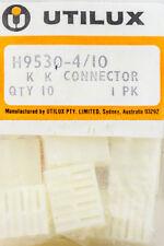 K K Connectors Header 4 Contact Points Utilux H9530-4 KK Connectors 5.08mm pitch