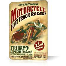 METAL TIN SIGN MOTORCYCLE ANTIQUE POSTER Vintage Retro Decor Wall Bar Pub Garage
