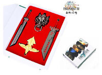 Anime Final Fantasy Sword Cosplay Metal Toy Necklace Pendant Keychain New B#