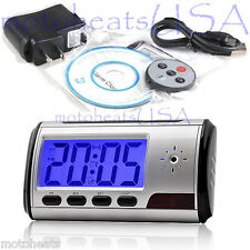 Spy Cam Hidden Camera Nanny Alarm Clock Mini DVR Remote Smart Camcorder IN BOX