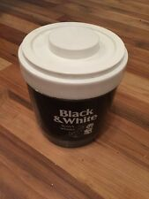 Fabulous Vintage Plastic Black & White Whiskey Ice Bucket