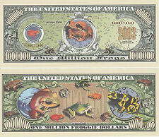Frogs Million Dollar Bill Collectible Novelty Note