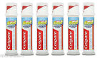 6 x Colgate Total Advanced Clean Antibacterial & Fluoride Toothpaste Pump 100ml