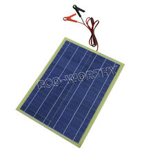 20W Epoxy Solar Panel Solar Module WIith 30A Battery Clips for  Hiking Camper