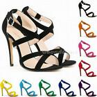 Women Pumps High Heels Wedding Shoes Ankle Strap Stilettos Platform Sandal G1CG