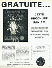PUBLICITE ADVERTISING 076  1962   PAN AM  compagnie aérienne bienvenue aux USA